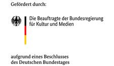 Das Logo der Beauftragte der Bundesregierung für Kultur und Medien- Schwarze Schrift auf weißem Grund.