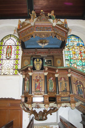 Die historische Kanzel von St. Andreas - Copyright: Ev.-Luth. Kirchenkreis Lübeck-Lauenburg
