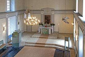 Der Innenraum der St.-Petri-Kirche Gülzow - Copyright: Manfred Maronde