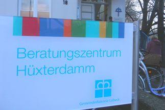 Beratungszentrum Hüxterdamm Schild - Copyright: Oda Rose-Oertel, Gemeindediakonie