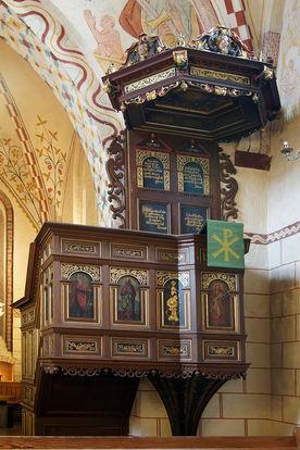 Die Kanzel der Maria-Magdalenen-Kirche Berkenthin