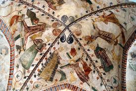 Bemaltes Gewölbe in der Marienkirche Büchen-Dorf - Copyright: Manfred Maronde