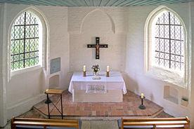 Innenansicht der Wege-Kapelle in Klein Grönau - Copyright: Manfred Maronde