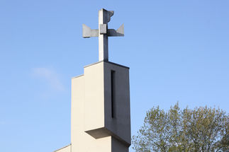 Die Eingangstür der Kreuzkirche