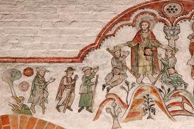 Malfries mit Pilgerdarstellung in der St.-Nicolai-Kirche Mölln - Copyright: Manfred Maronde