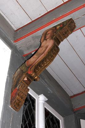 Knagge in der St.-Anna-Kirche in Niendorf - Copyright: Manfred Maronde