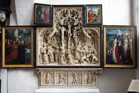Blick auf den aufgeklappten Brömbse-Altar von St. Jakobi - Copyright: Manfred Maronde