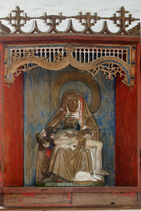 Pietà in der Wege-Kapelle in Klein Grönau
