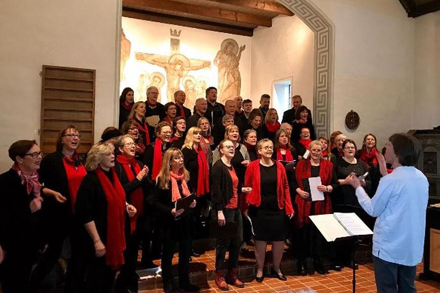 Rund 50 Teilnehmer des gelungenen Gospelworkshops. - Copyright: Angelika Asmus