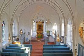 Innenraum der St.-Marien-Kirche Basthorst, Blick von der Empore - Copyright: Manfred Maronde