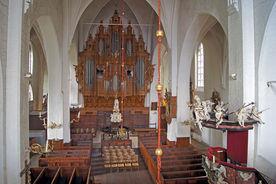 Blick vom Singechor auf die Orgel und den Innenraum von St. Aegidien - Copyright: Manfred Maronde