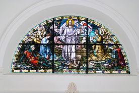 Fenster in St. Dionys und St. Jakobus Lütau - Copyright: Manfred Maronde