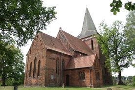 Nord-Ost-Ansicht der Maria-Magdalenen-Kirche Berkenthin