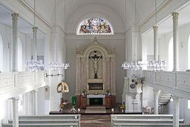 Innenansicht von St. Dionys und St. Jakobus Lütau, Blick von der Empore - Copyright: Manfred Maronde