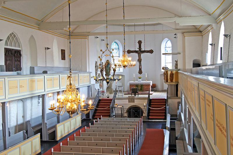 Der Innenraum der Maria-Magdalenen-Kirche Lauenburg