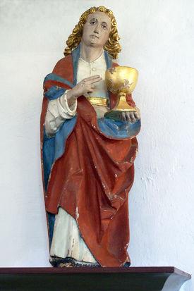 Christus-Figur in der Pötrauer Kirche