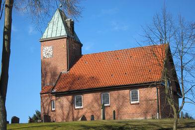 Außenansicht der St-Bartholomäus-Kapelle Salem von der Seite