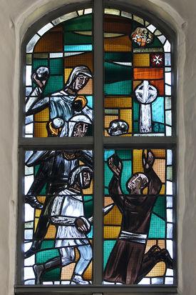 Bleiglasfenster in St. Georg auf dem Berge - Copyright: Manfred Maronde