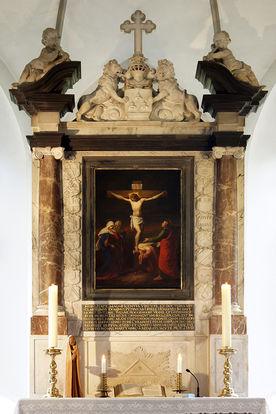 Der historische Altar der St.-Marien-Kirche Basthorst - Copyright: Manfred Maronde