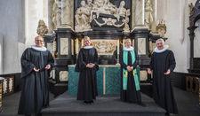 Die vier Pastoren Robert Pfeifer, Inga Meißner (beide St. Marien) sowie Lutz und Kathrin Jedeck (St. Jakobi) gestalten paarweise von Januar bis März die Gottesdiensten in St. Marien und St. Jakobi.