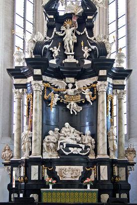Blick auf den barocken Altar in St. Jakobi - Copyright: Peter Müller