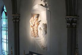 Wandskulpturen in der St.-Marien-Kirche Basthorst - Copyright: Ev.-Luth. Kirchenkreis Lübeck-Lauenburg