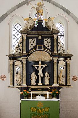 Barock-Altar der St.-Willehad-Kirche in Groß Grönau - Copyright: Manfred Maronde