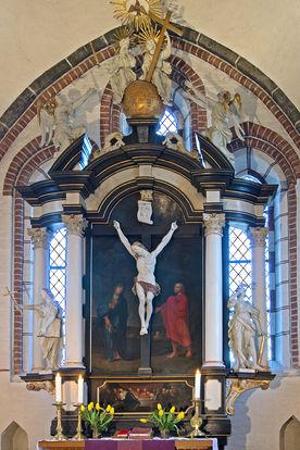 Der Barock-Altar in der St.-Johannis-Kirche Krummesse - Copyright: Manfred Maronde
