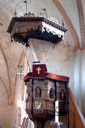 Die Kanzel der Kirche in Behlendorf  - Copyright: Manfred Maronde