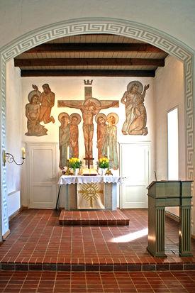 Der Altarraum der Pötrauer Kirche - Copyright: Manfred Maronde