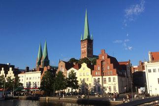 St.-Petri Lübeck Ansicht Obertrave