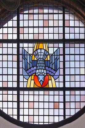 Rundes Kirchenfenster in der St.-Matthäi-Kirche - Copyright: Manfred Maronde