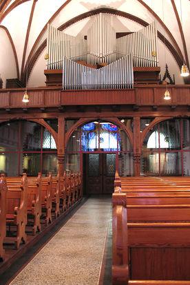 Die Orgel und Empore der St.-Matthäi-Kirche - Copyright: Ev.-Luth. Kirchenkreis Lübeck-Lauenburg
