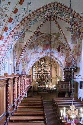 Der Innenraum der Maria-Magdalenen-Kirche Berkenthin