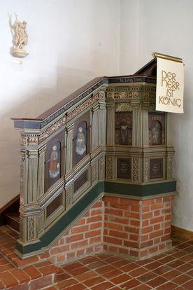 Die Kanzel der Pötrauer Kirche - Copyright: Manfred Maronde