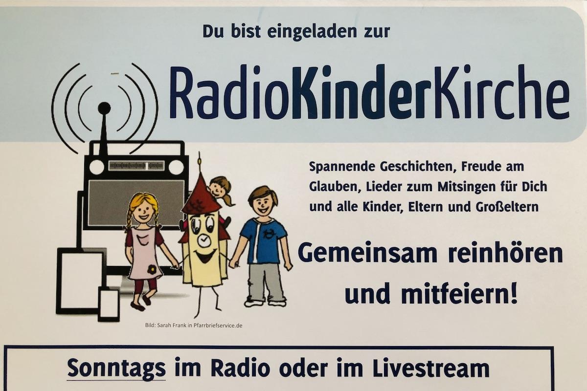 Ein Plakat der Radiokinderkirche.