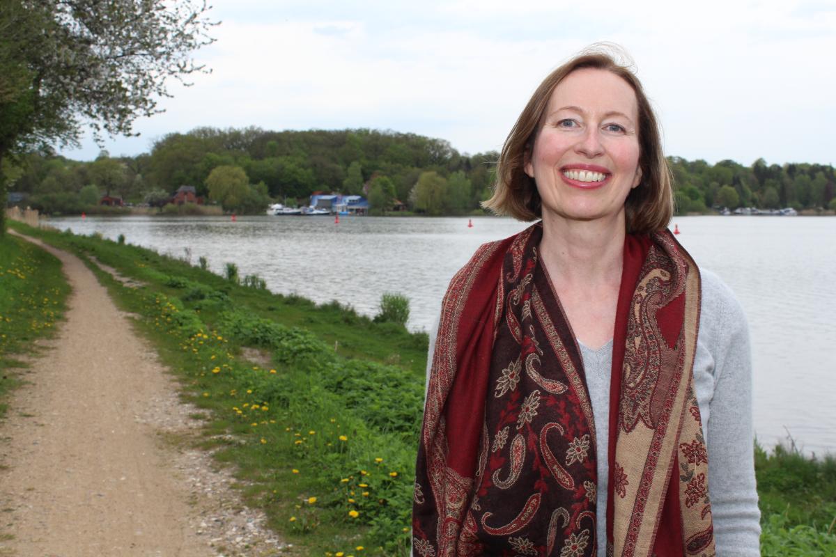 Anja Nitz am Elbe-Lübeck-Kanal