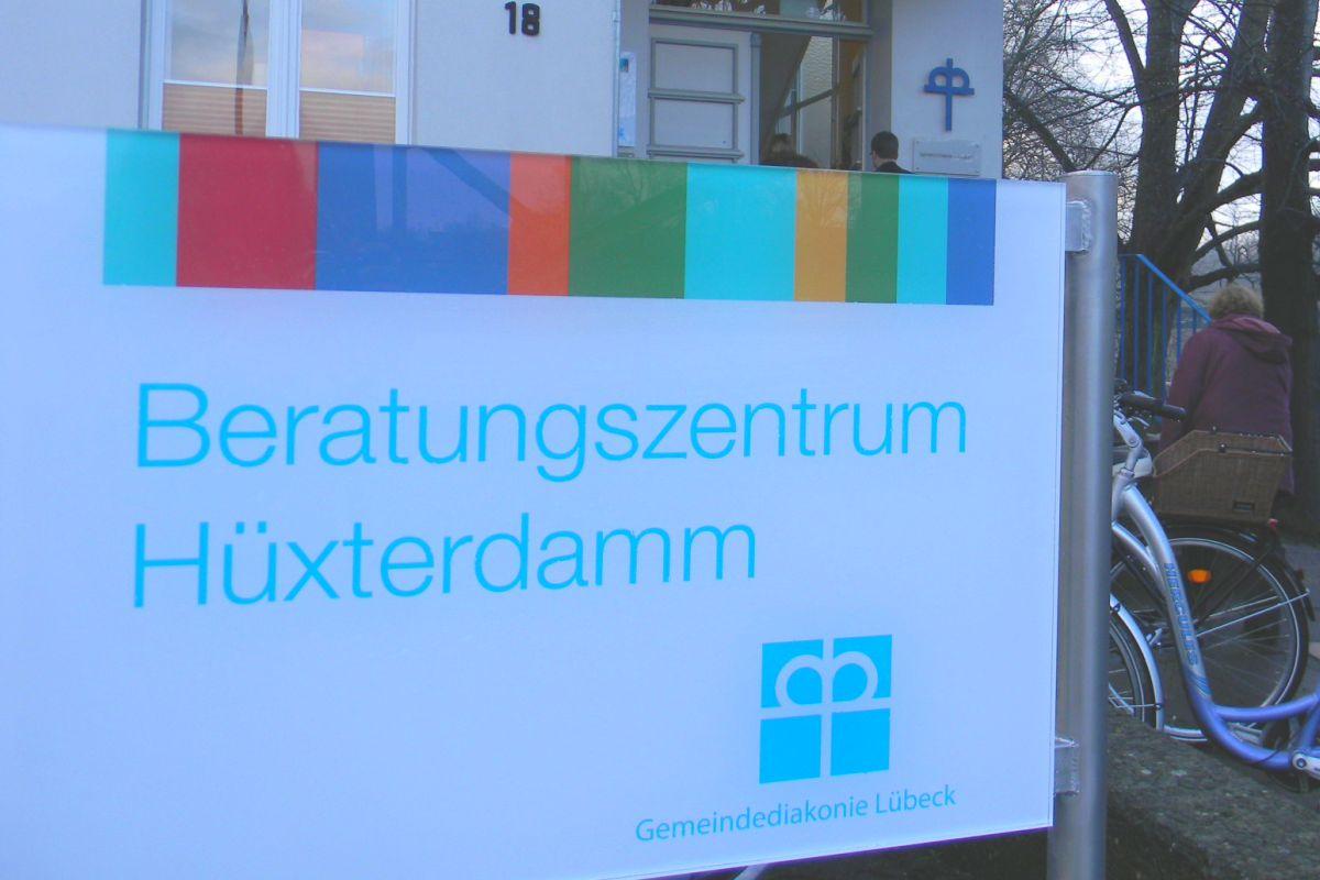 Beratungszentrum Hüxterdamm Schild
