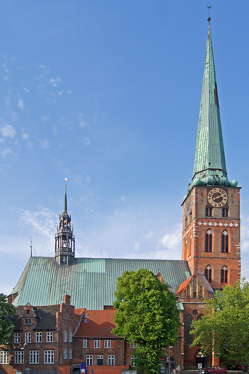 Außenansicht der St.-Jakobi-Kirche Lübeck