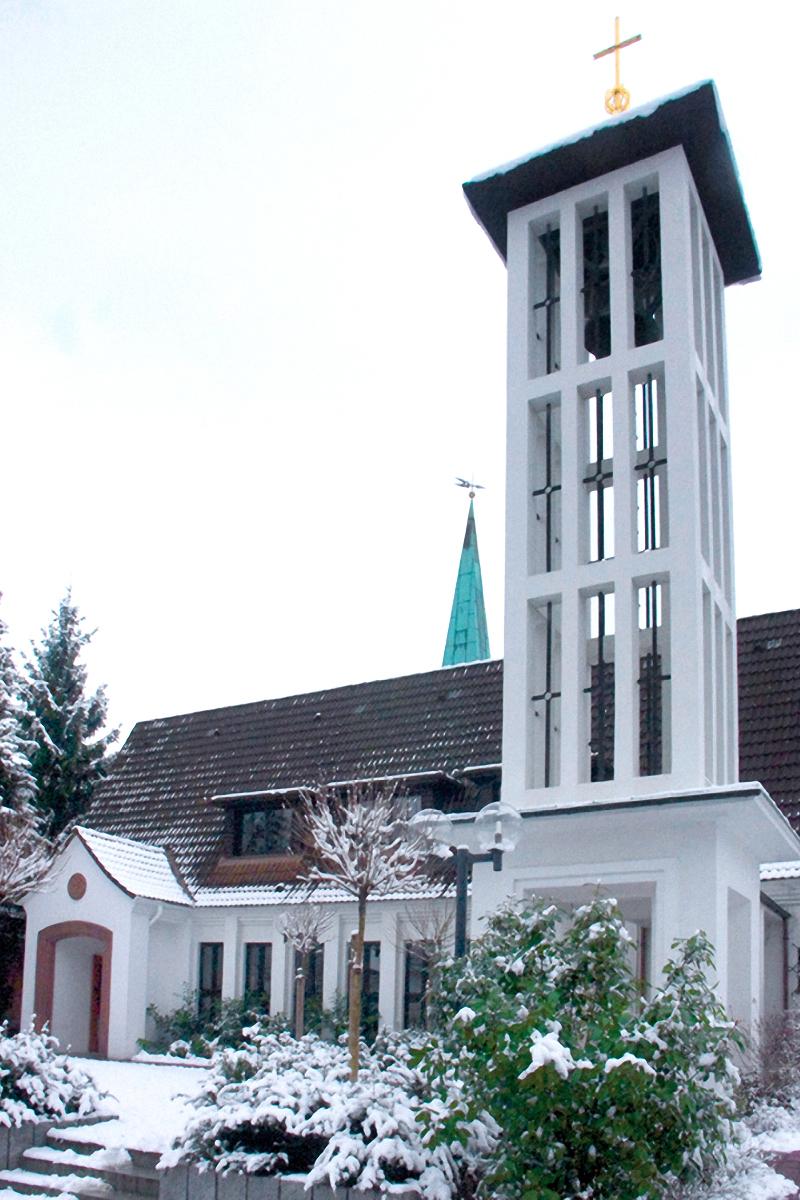 Die Martin-Luther-Kirche in Wentorf
