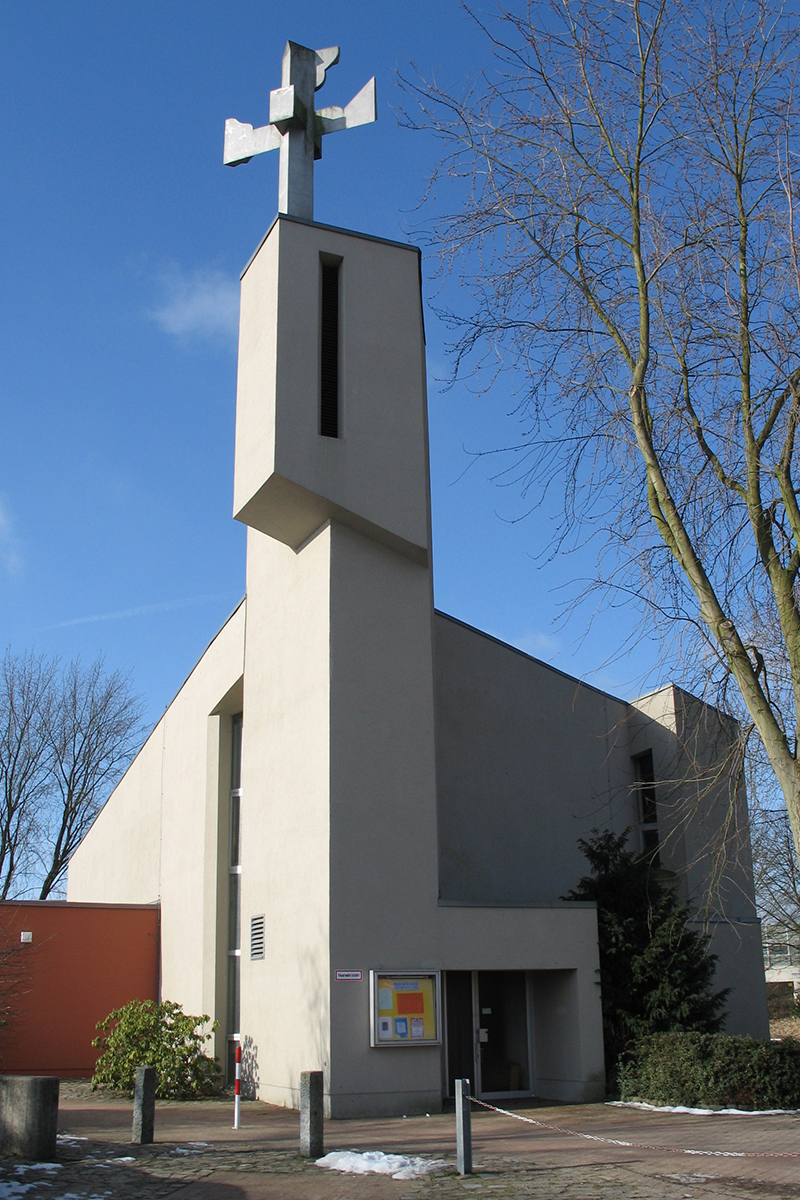 Außenansicht der Kreuzkirche in St. Jürgen - Copyright: Ev.-Luth. Kirchenkreis Lübeck-Lauenburg